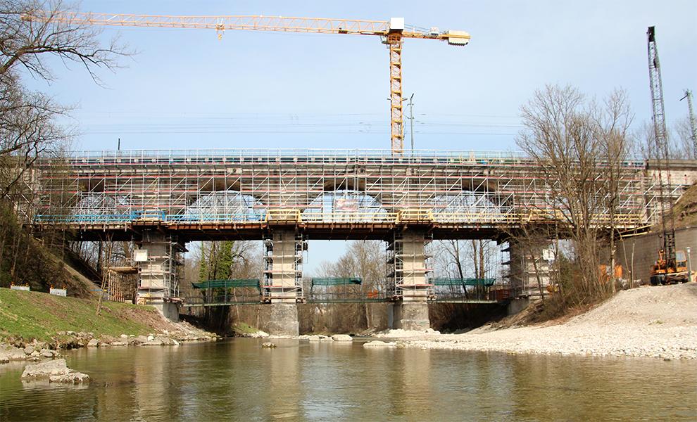 Brückengerüst für Sonderkonstruktion